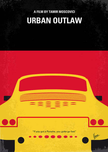 Cinema Digital Art - No316 My Urban Outlaw Minimal Movie Poster by Chungkong Art