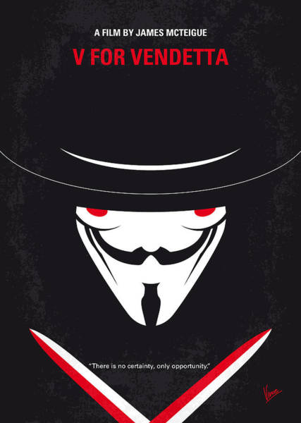 Cinema Digital Art - No319 My V For Vendetta Minimal Movie Poster by Chungkong Art