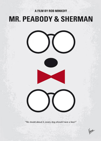 Wall Art - Digital Art - No324 My Mr Peabody Minimal Movie Poster by Chungkong Art