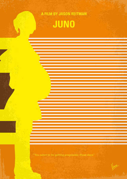 Pregnancy Digital Art - No326 My Juno Minimal Movie Poster by Chungkong Art