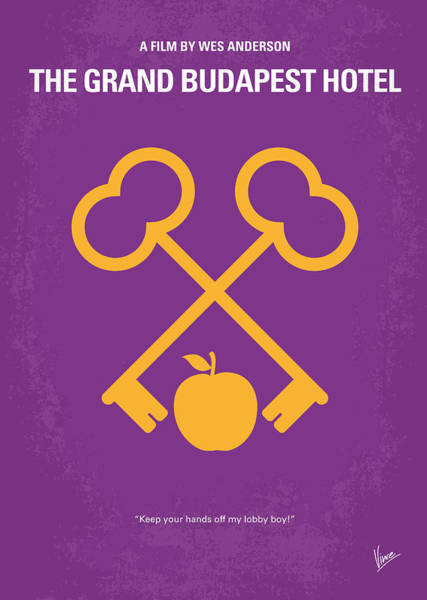 Wall Art - Digital Art - No347 My The Grand Budapest Hotel Minimal Movie Poster by Chungkong Art