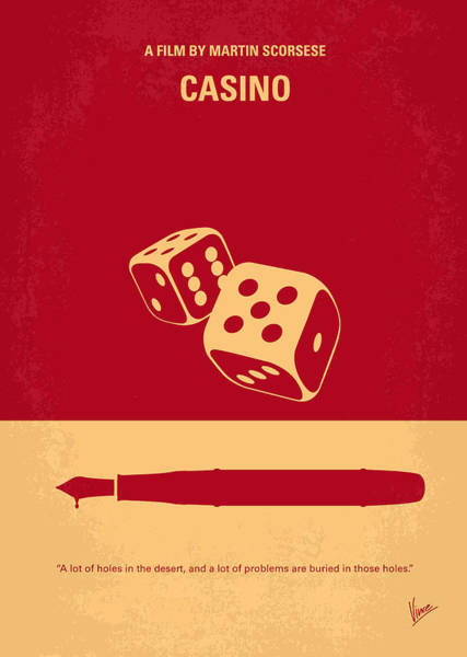Cinema Digital Art - No348 My Casino Minimal Movie Poster by Chungkong Art