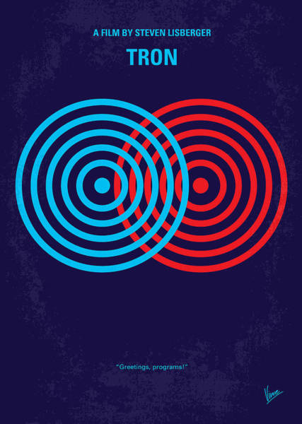 Digital Design Digital Art - No357 My Tron Minimal Movie Poster by Chungkong Art