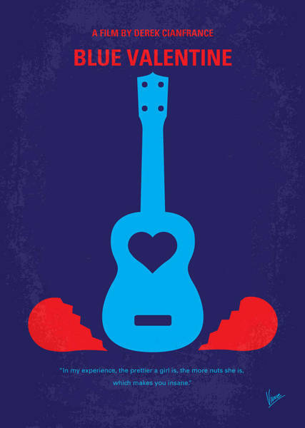Valentines Digital Art - No379 My Blue Valentine Minimal Movie Poster by Chungkong Art
