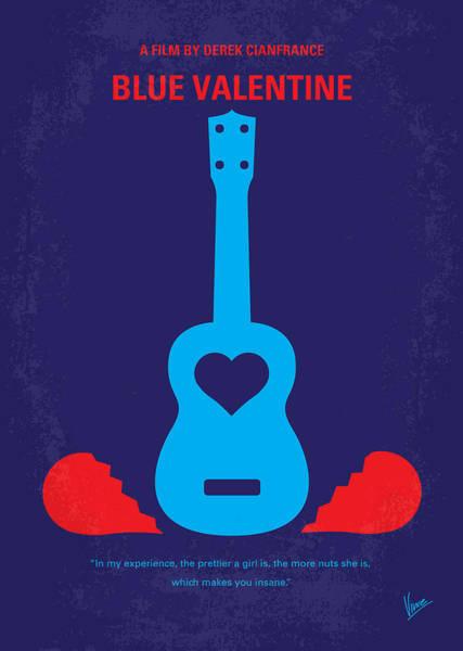 Valentine Digital Art - No379 My Blue Valentine Minimal Movie Poster by Chungkong Art