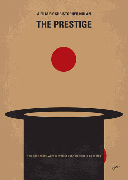 Illusion Digital Art - No381 My The Prestige Minimal Movie Poster by Chungkong Art