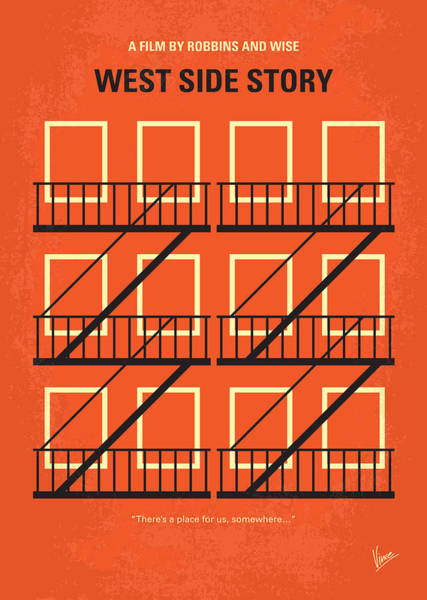 Wall Art - Digital Art - No387 My West Side Story Minimal Movie Poster by Chungkong Art