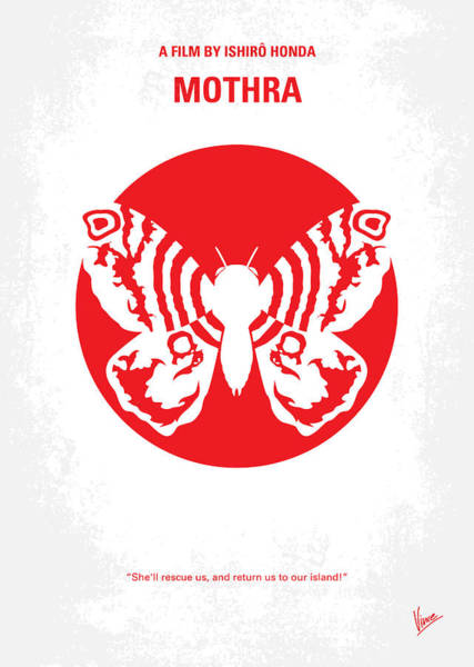 Godzilla Digital Art - No391 My Mothra Minimal Movie Poster by Chungkong Art
