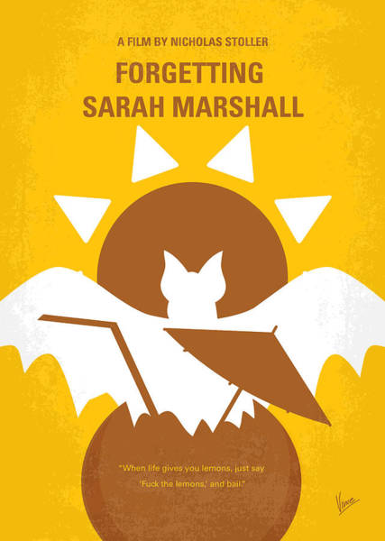 No393 My Forgetting Sarah Marshall Minimal Movie Poster Art Print