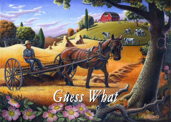 Alabama Painting - no4 Guess What by Walt Curlee