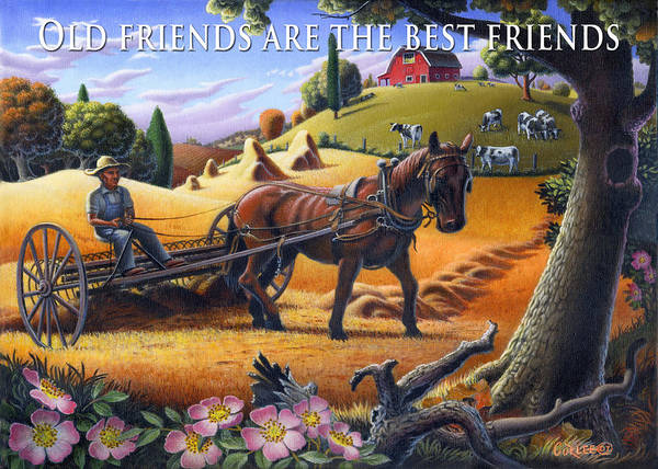 Alabama Painting - no4 Old friends are the best friends by Walt Curlee