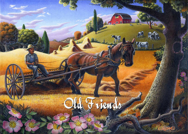 Alabama Painting - no4 Old Friends by Walt Curlee