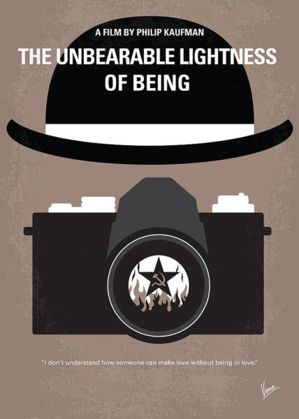 Being Digital Art - No401 My The Unbearable Lightness Of Being Minimal Movie Poster by Chungkong Art