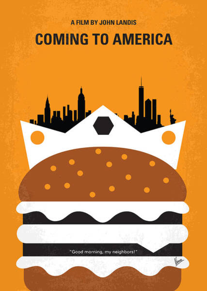 Wall Art - Digital Art - No402 My Coming To America Minimal Movie Poster by Chungkong Art