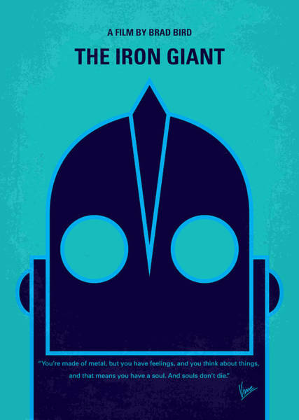Wall Art - Digital Art - No406 My The Iron Giant Minimal Movie Poster by Chungkong Art