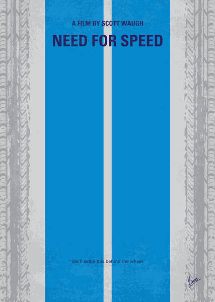 Speed Wall Art - Digital Art - No407 My Need For Speed Minimal Movie Poster by Chungkong Art