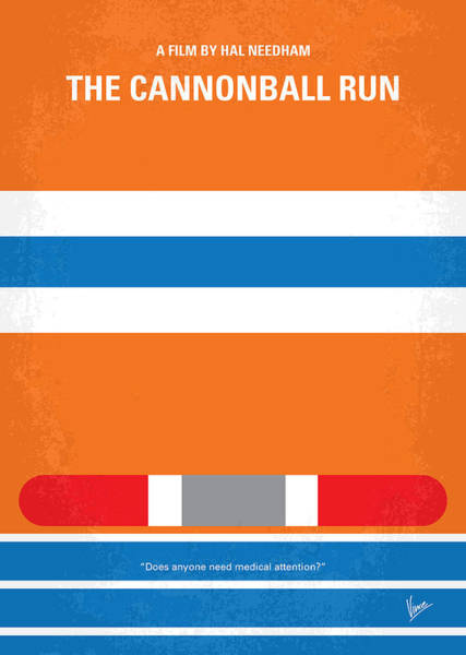 Racer Digital Art - No411 My The Cannonball Run Minimal Movie Poster by Chungkong Art