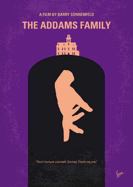 Wall Art - Digital Art - No423 My The Addams Family Minimal Movie Poster by Chungkong Art