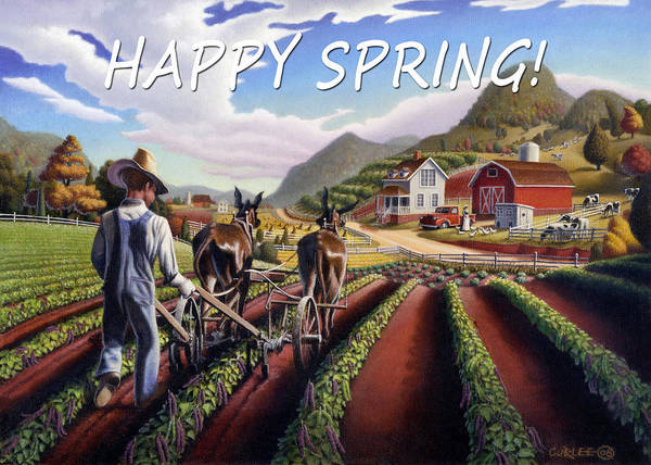 Alabama Painting - no5 Happy Spring by Walt Curlee