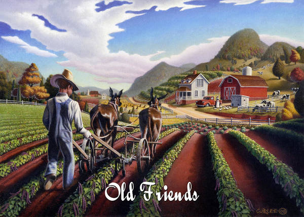 Alabama Painting - no5 Old Friends by Walt Curlee