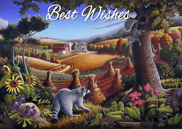 Alabama Painting - no6 Best Wishes by Walt Curlee