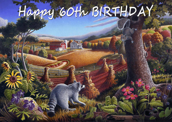 Alabama Painting - no6 Happy 60th Birthday by Walt Curlee