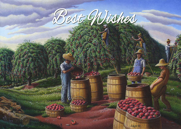 Wall Art - Painting - no8 Best Wishes by Walt Curlee