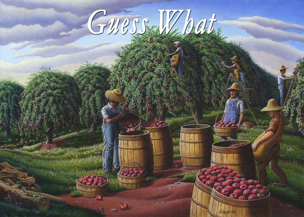 Wall Art - Painting - no8 Guess What by Walt Curlee