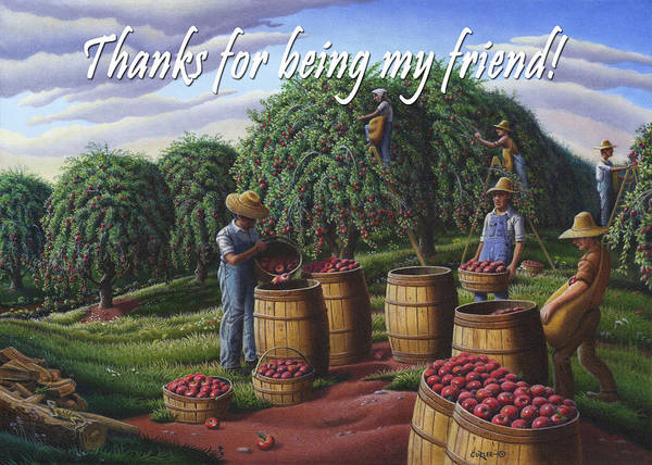 Wall Art - Painting - no8 Thanks for being my friend by Walt Curlee
