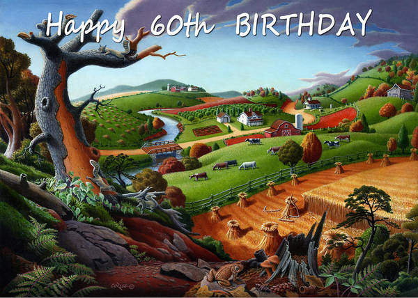 Alabama Painting - no9 Happy 60th Birthday by Walt Curlee