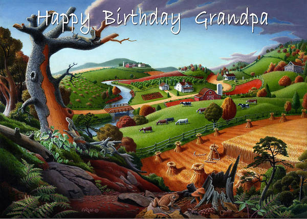 Alabama Painting - no9 happy Birthday Grandpa by Walt Curlee