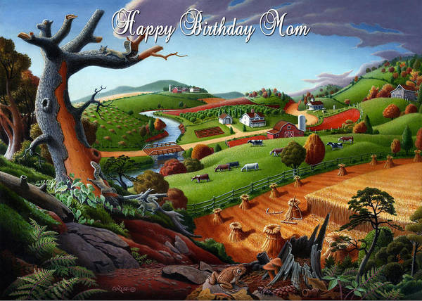 Alabama Painting - no9 Happy Birthday Mom by Walt Curlee