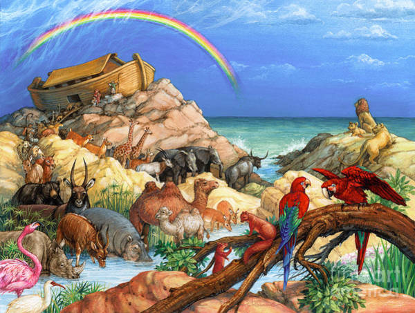 Painting - Noah And The Ark by Randy Wollenmann
