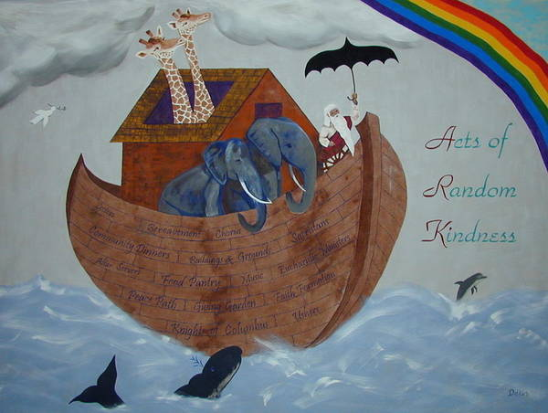 Wall Art - Painting - Noah's Ark by Chrissey Dittus
