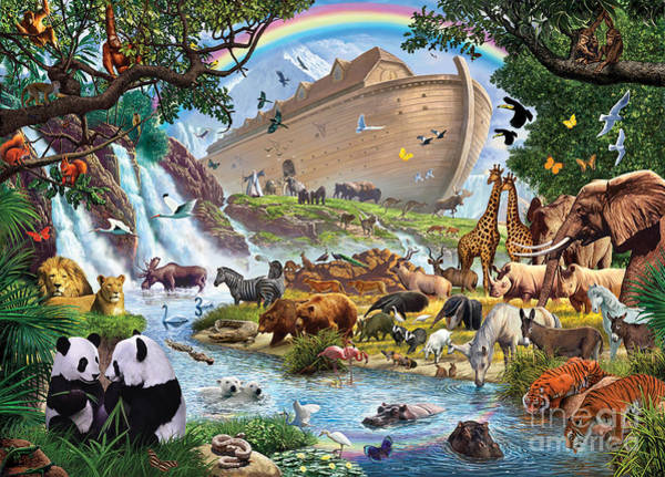 Tiger Digital Art - Noahs Ark - The Homecoming by MGL Meiklejohn Graphics Licensing