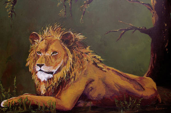 Painting - Noble Guardian - Lion by Patricia Awapara