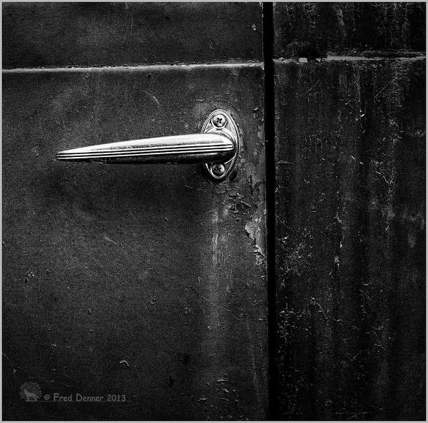 Photograph - Nobody's Truck Door Handle by Fred Denner