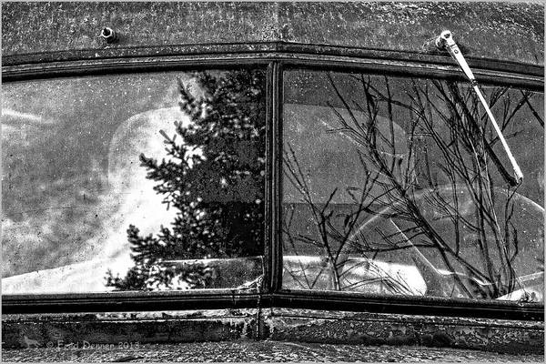 Photograph - Nobody's Truck Windshield by Fred Denner