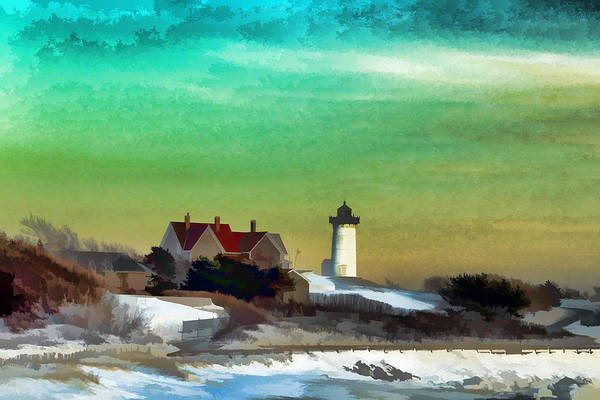 Photograph - Nobska Lighhouse In Winter by PepperMillPatty Photography
