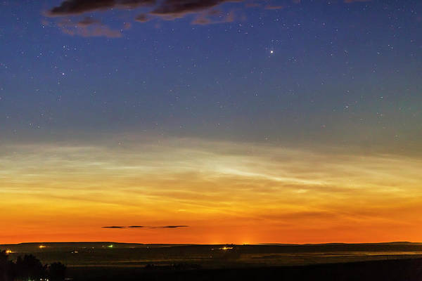 Mesosphere Photograph - Noctilucent Clouds On The Horizon by Alan Dyer