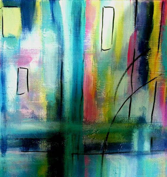 Painting - Nocturnal Waterfront by Nikki Dalton