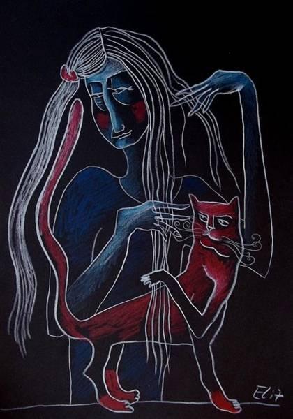 Hairdo Drawing - Nocturnes. Hairdo by Elisheva Nesis