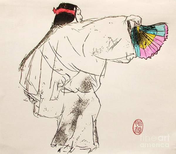 Kabuki Painting - Noh Player by Roberto Prusso