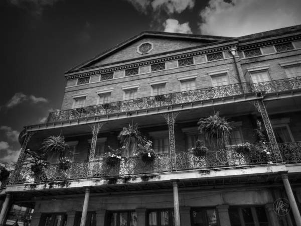 Photograph - Nola - French Quarter 002 Bw by Lance Vaughn