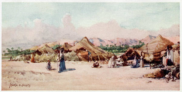 Nomad Drawing - Nomad Camp, Algeria          Date 1906 by Mary Evans Picture Library