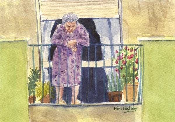 Painting - Nonna On The Third Floor by Mimi Boothby