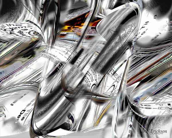 Digital Art - Nonobjective Words by rd Erickson