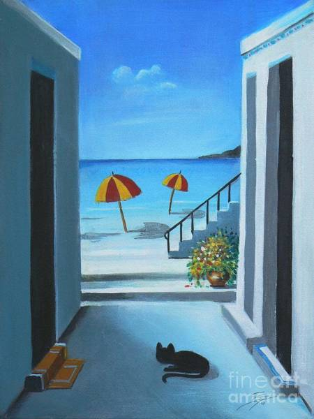 Painting - Noon At The Beach by Artist ForYou