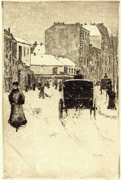 1854 Drawing - Norbert Goeneutte, French 1854-1894, Boulevard Clichy by Litz Collection