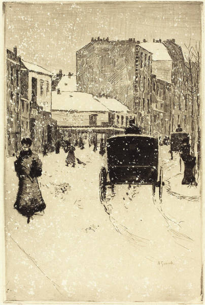 1854 Drawing - Norbert Goeneutte French, 1854 - 1894, Boulevard Clichy by Quint Lox